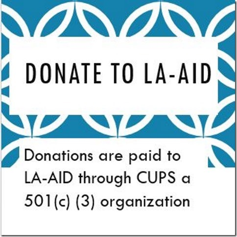 Donations are paid through CUPS
